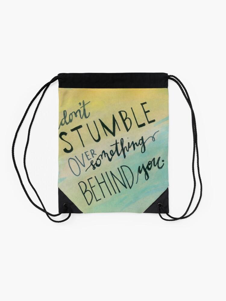 Alternate view of Don't Stumble Drawstring Bag