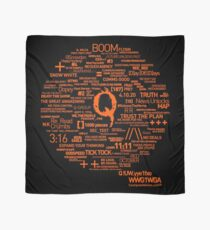 Qanon - Great Awakening - QResearch - Cryptograph Scarf