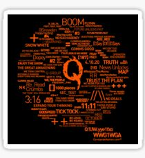 Qanon - Great Awakening - QResearch - Cryptograph Sticker