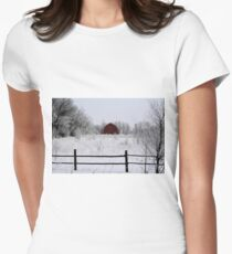 Nature's Brush Womens Fitted T-Shirt