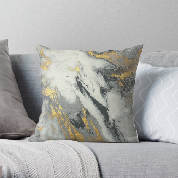 Marble Pour 930 Throw Pillow