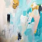 Sea Glow Abstract Expressionism by melaniebiehle