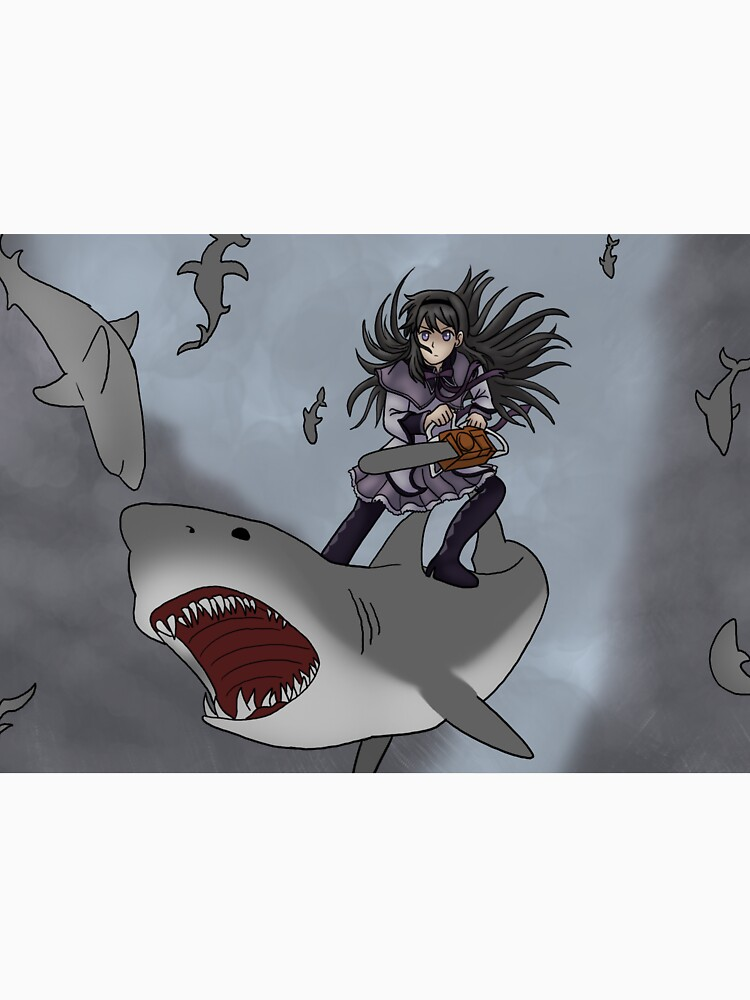Homura Vs Sharknado by SailorMoonie