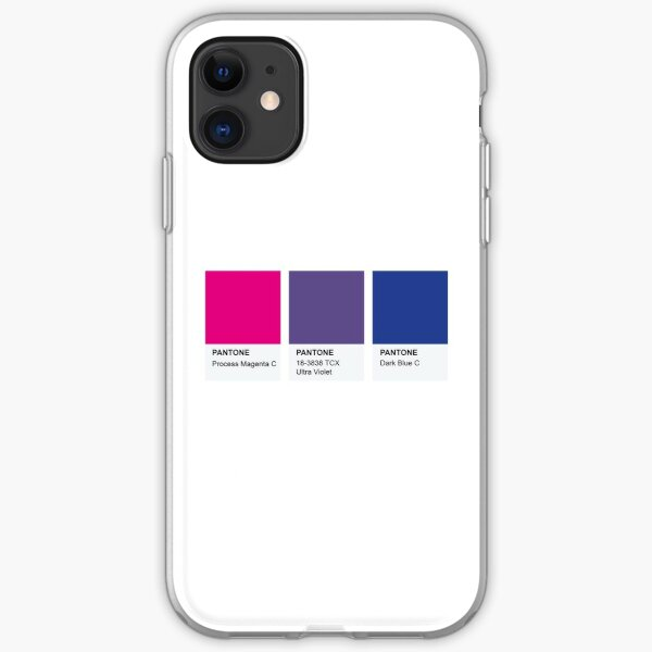 LGBT COLOR PANTONE PALLETE BISEXUAL COMMUNITY DESIGN iPhone Soft Case