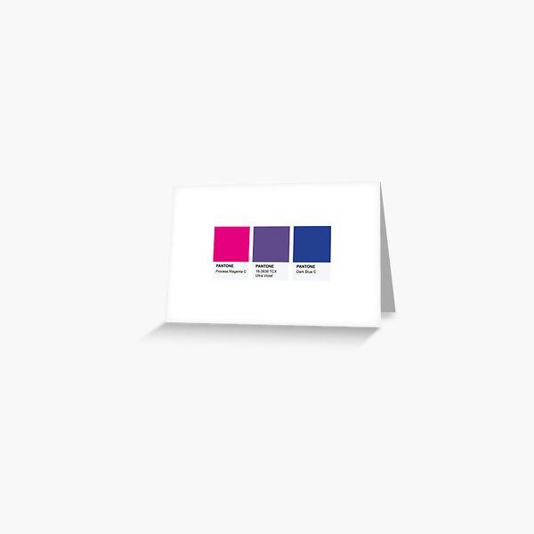 LGBT COLOR PANTONE PALLETE BISEXUAL COMMUNITY DESIGN Greeting Card