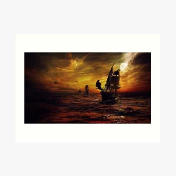 Ships At Sea Art Print