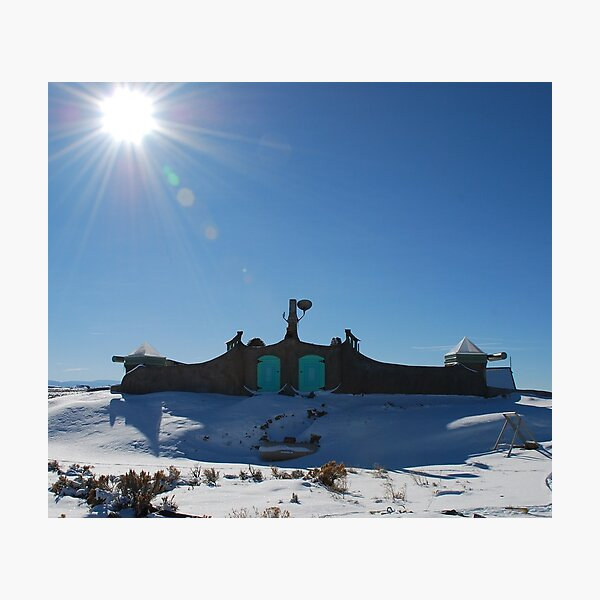 Roof of Earthship Photographic Print