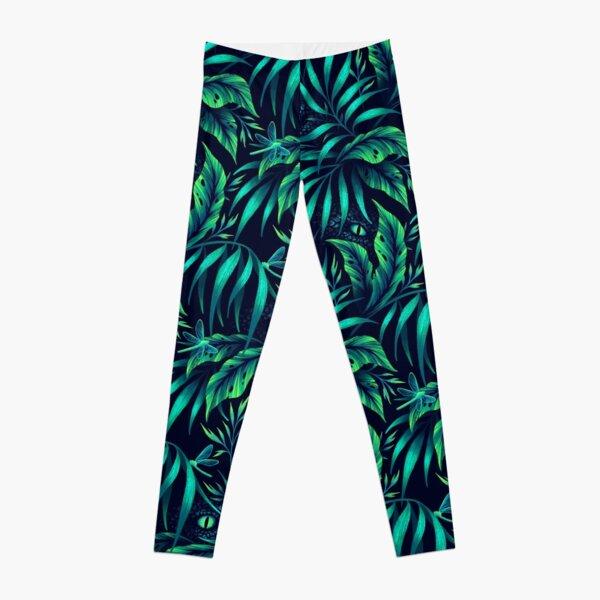 Jurassic Jungle - Emerald Green Leggings