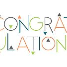 Congratulations Funky Triangle Card by abigailhausman