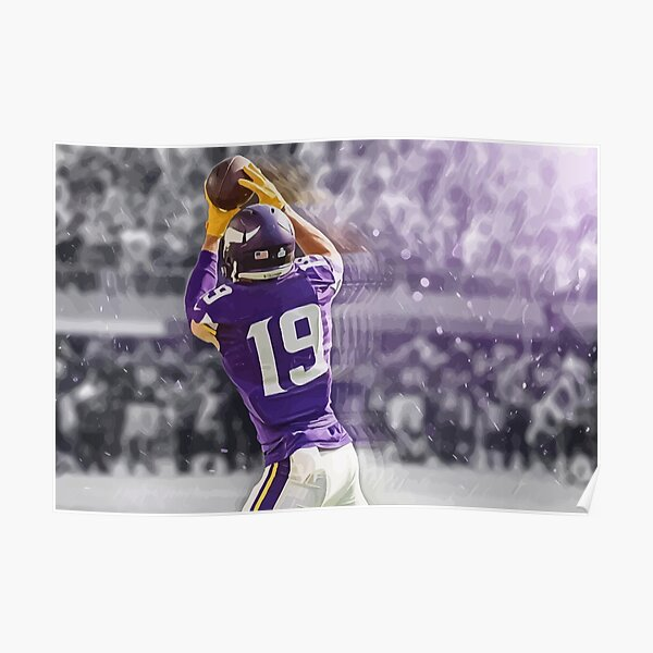 Adam Thielen Minnesota Vikings Illustration  Poster