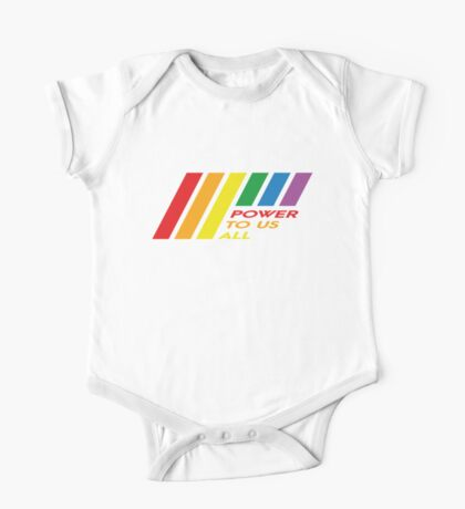 Pride Stripe: Power To Us All Kids Clothes