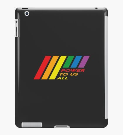 Pride Stripe: Power To Us All iPad Case/Skin