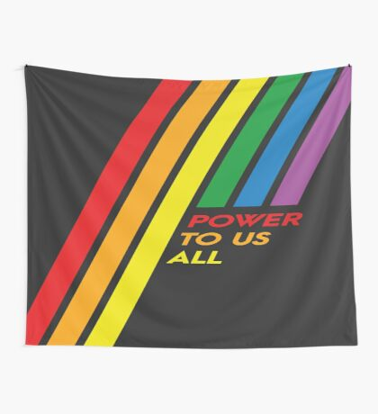 Pride Stripe: Power To Us All Wall Tapestry