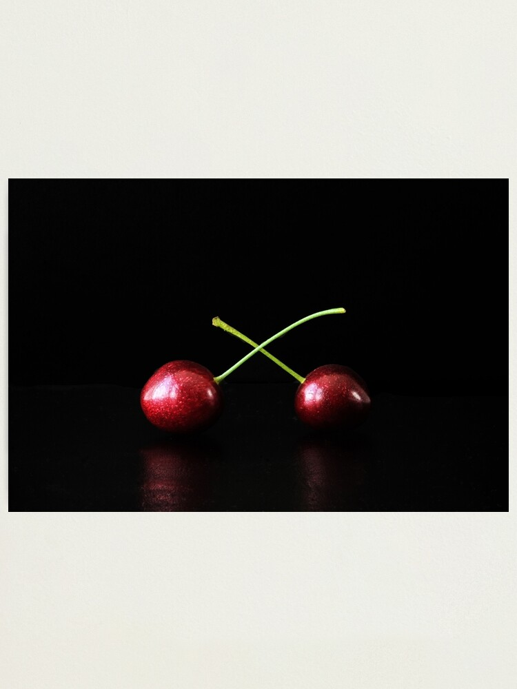 Alternate view of Two Cherries Photographic Print