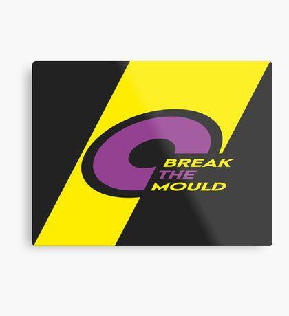 Pride Stripe: Break The Mould Metal Print