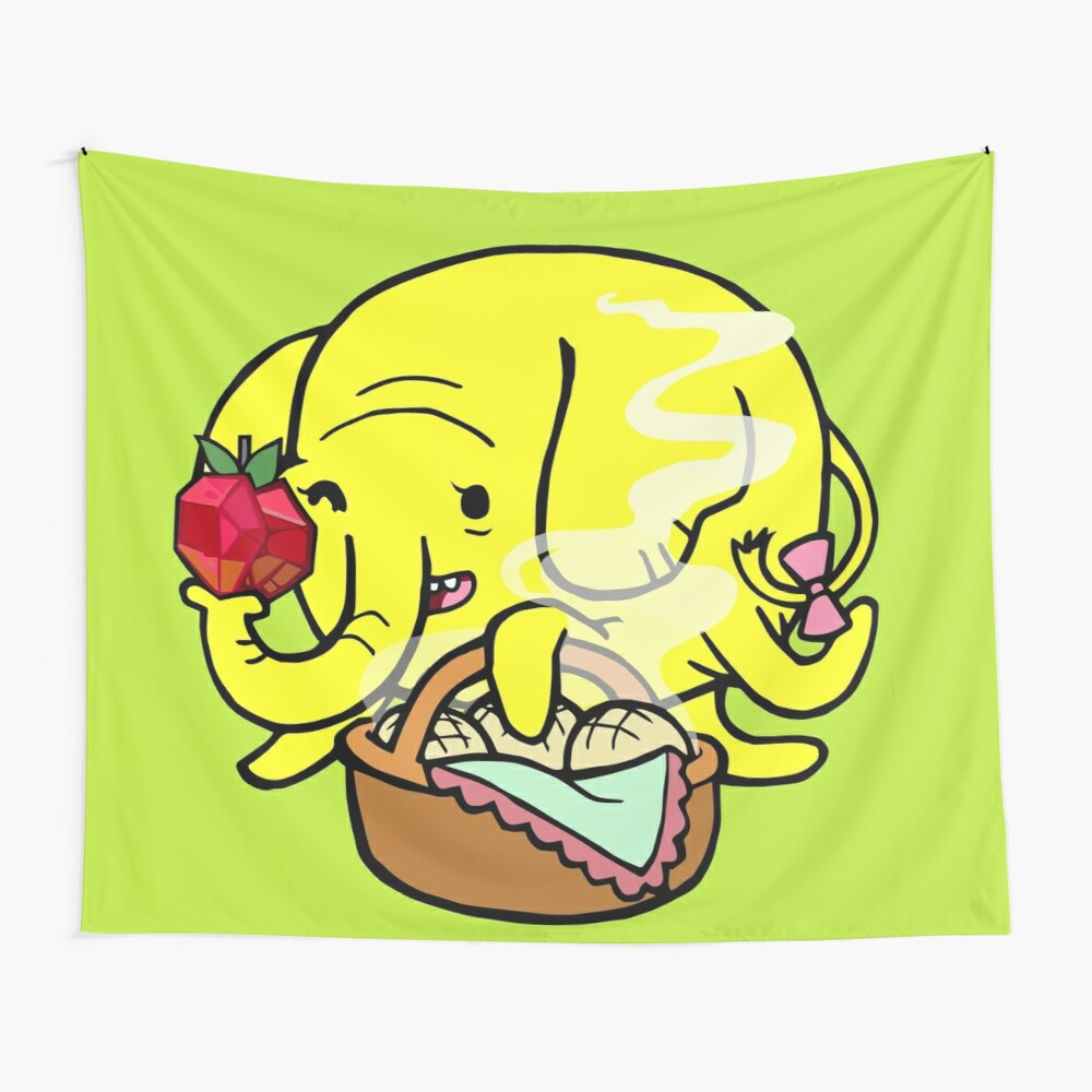 Womanly Charms and Elephant Prowess Wall Tapestry