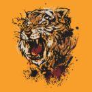 Splattered Tiger by elangkarosingo