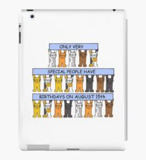 Cats celebrating a birthday on August 15th iPad Case/Skin
