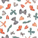 Painted Butterflies by melarmstrong