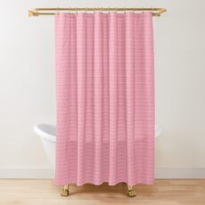 Pink Plumeria Paisley Shower Curtain
