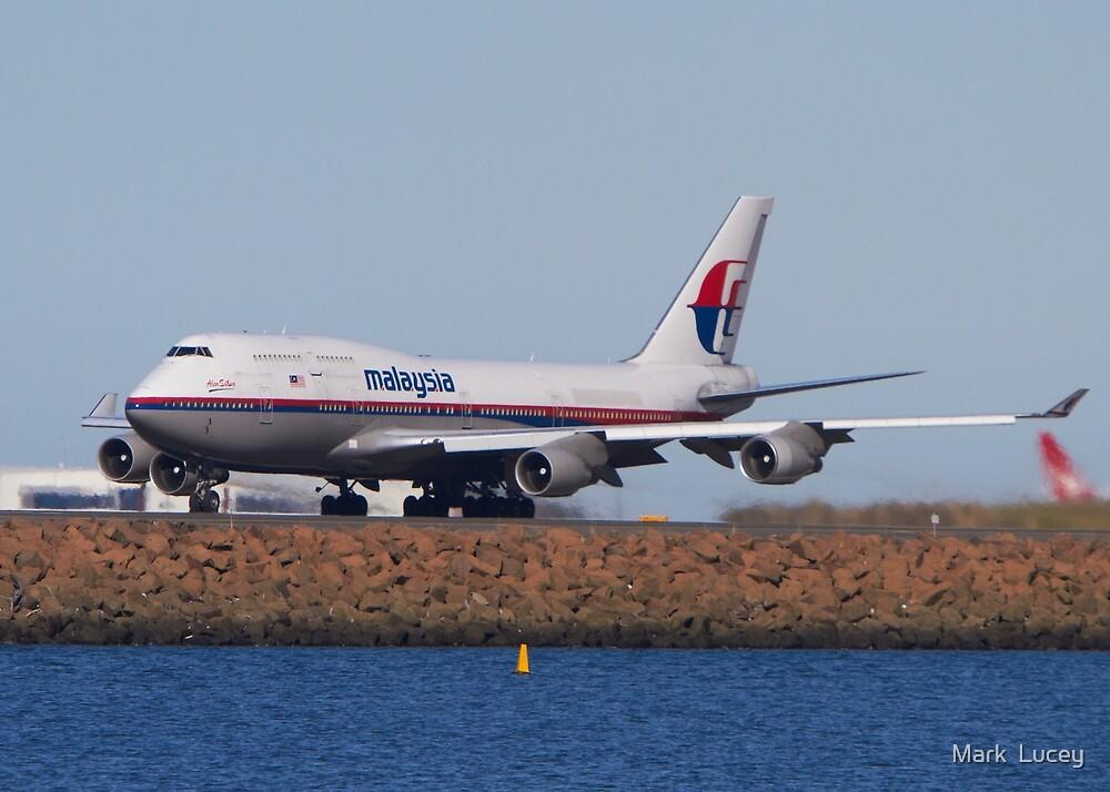 Malaysian B747-400  by Mark  Lucey