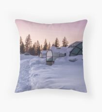 Home Is a Glass Igloo Throw Pillow