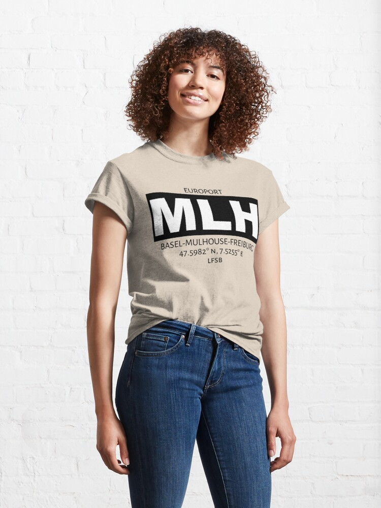 Alternate view of Europort Basel Mulhouse Freiburg Airport MLH Classic T-Shirt