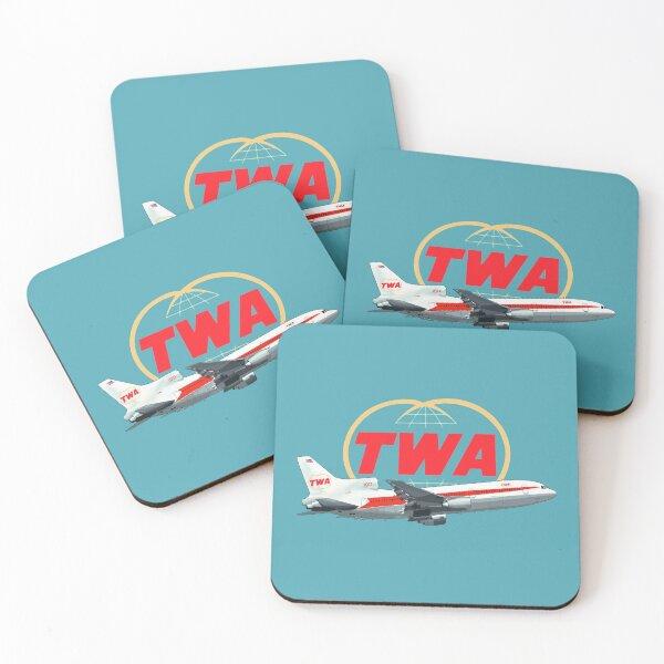 TWA Tristar  Lockheed  Coasters (Set of 4)