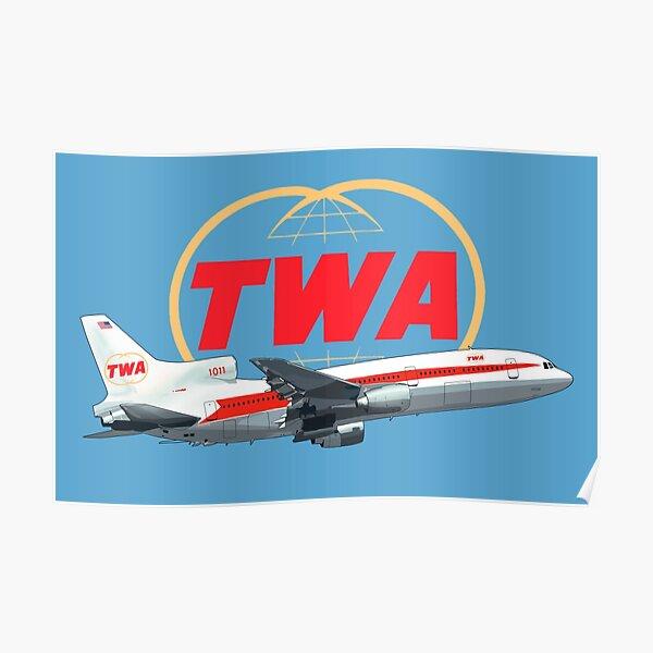 TWA Tristar  Lockheed  Poster
