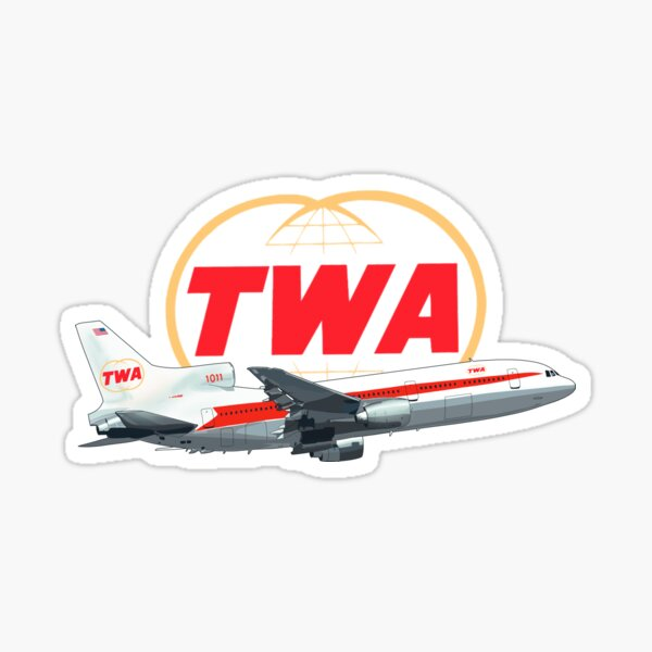 TWA Tristar  Lockheed  Sticker