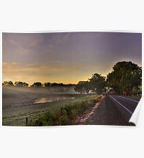 Road to Lobethal, South Australia Poster