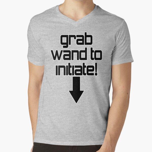 Grab wand to initiate - cheeky drifter tee shirt V-Neck T-Shirt