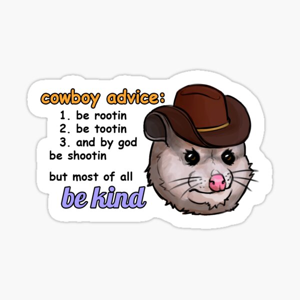 Opossum Advice Sticker