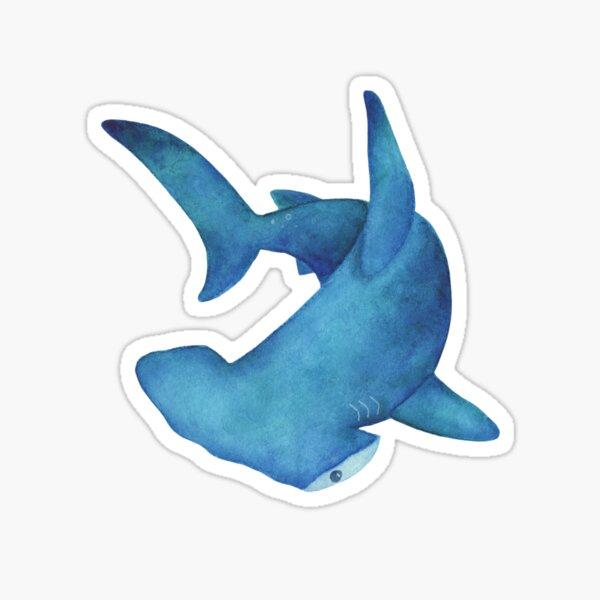 Hammerhead Shark Watercolor Illustration Sticker