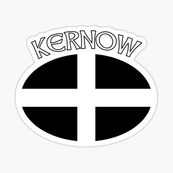 Kernow Cornwall Flag for Cornish People Sticker