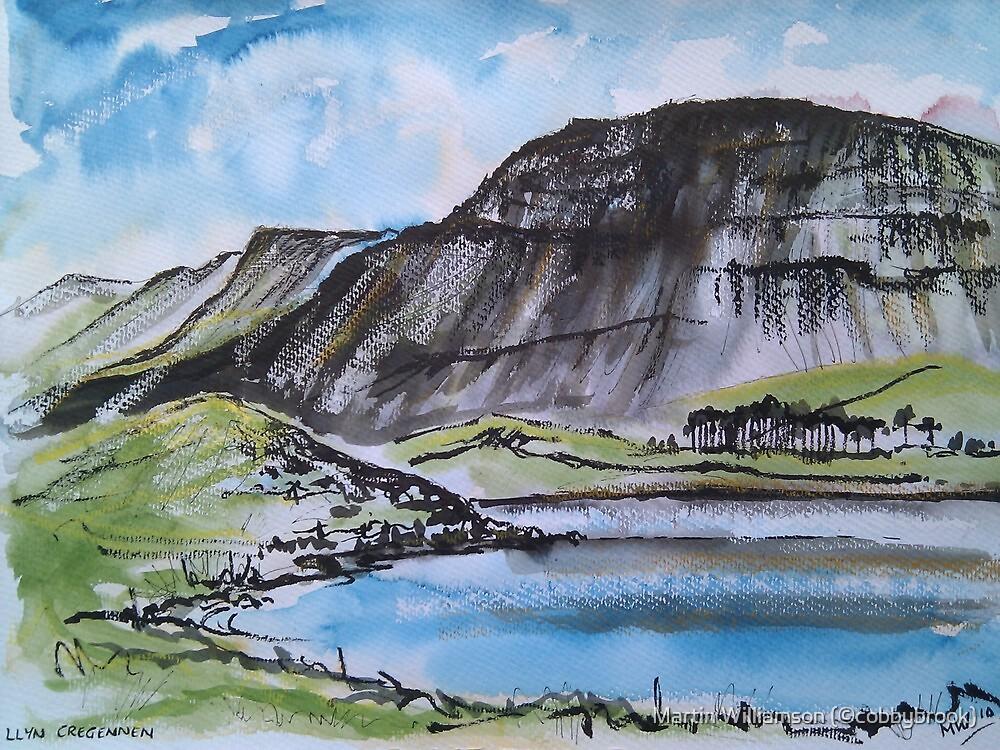 Llyn Cregennan and Cadair Idris, Wales by Martin Williamson (©cobbybrook)