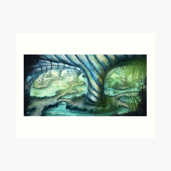 Die Grotte Art Print