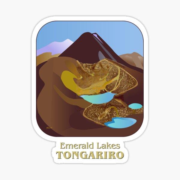 Emerald Lakes Tongariro Sticker