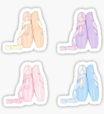 Four pack pastel stickers Pointe shoes  Sticker