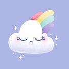 Cute Rainbow Cloud by doodlecarrot