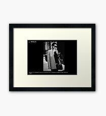 FASHION AT THE CROSSWALK Framed Print