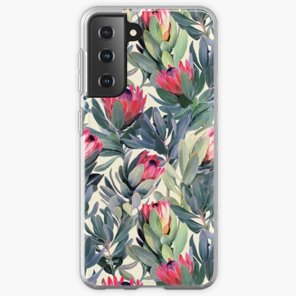 Painted Protea Pattern Samsung Galaxy Soft Case