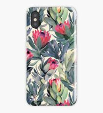 Gemaltes Protea-Muster iPhone-Hülle & Cover