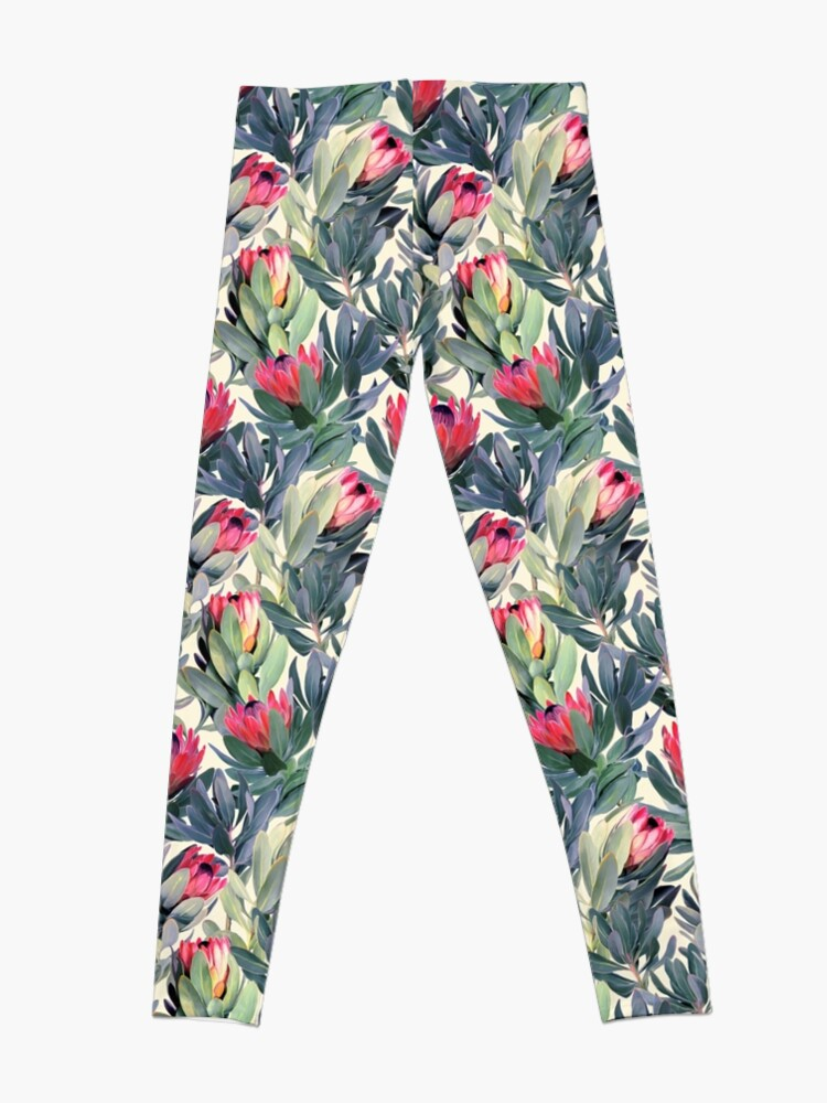 Alternate view of Painted Protea Pattern Leggings