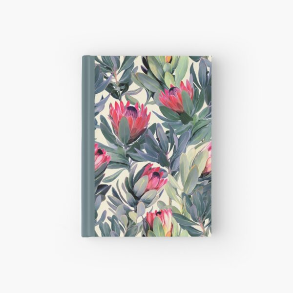 Painted Protea Pattern Hardcover Journal