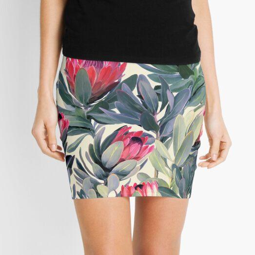 Painted Protea Pattern Mini Skirt