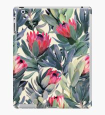Gemaltes Protea-Muster iPad-Hülle & Klebefolie