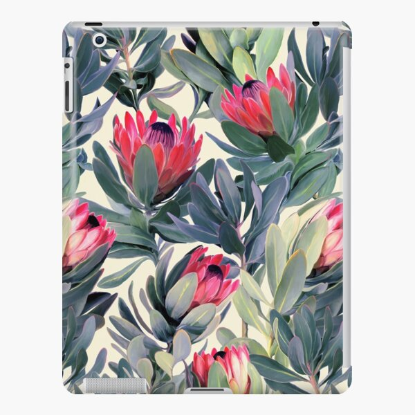 Painted Protea Pattern iPad Snap Case
