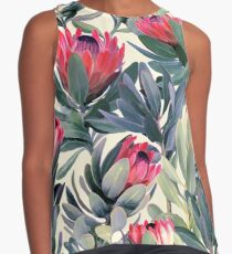 Painted Protea Pattern Sleeveless Top
