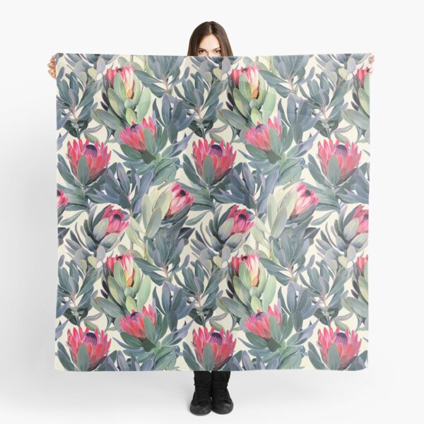 Painted Protea Pattern Scarf